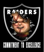 "Raiders Shield Jon Gruden ""Chucky"" Men's T-Shirts - $24.74"