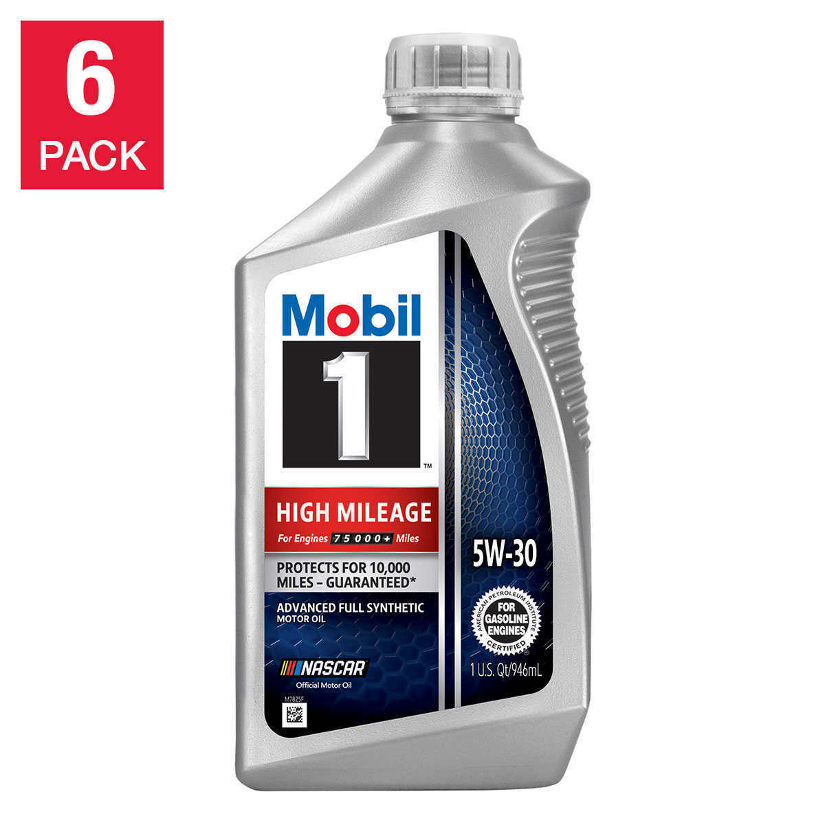 Primary image for NEW Mobil 1 High Mileage Full Synthetic Motor Oil 5W30, 1-Quart/6-Pack FREE SHIP