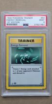 Energy Removal 92/102 PSA 9 MINT 1999 Pokemon 1st Edition Base Set Shado... - $34.99