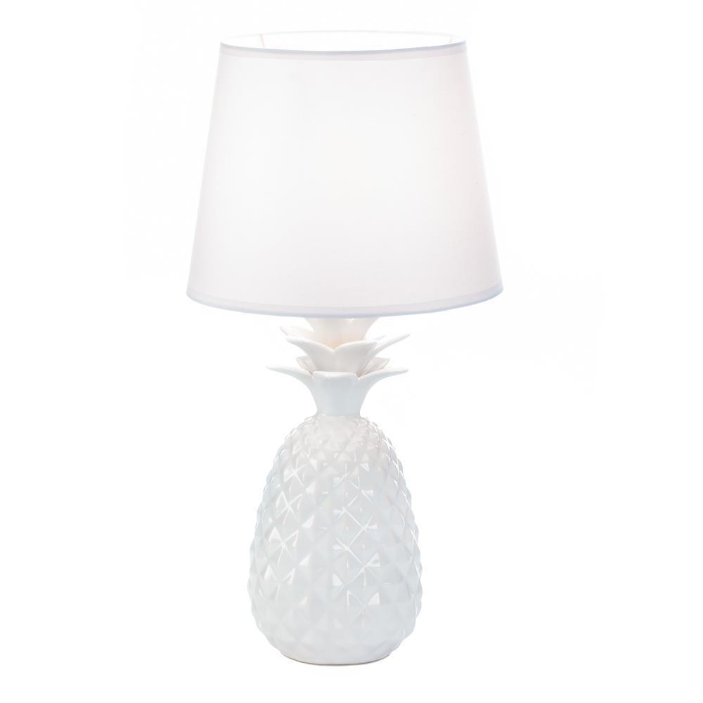 "WHITE PINEAPPLE Table Lamp 19"" Indoor Lighting"