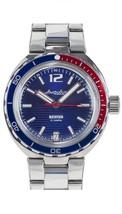 Vostok Amphibian Neptune 960759 /2416 Pepsi Military Russian Diver Watch New - $115.83