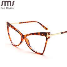 Anti Blue Light Glasses Women Men Cat Eye Clear Glasses Optical Eyeglasses Frame image 6