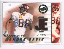 2002 Press Pass JE Game Used Jerseys #JEAD Andre Davis  - $12.56