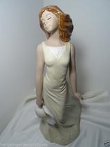 Vintage Art Nouveau Style Spanish Signed Nadal Porcelain Beautiful Lady ... - $289.55