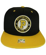 Pittsburgh Steel City Patch Style Snapback Baseball Cap (Black/Gold) - $13.49