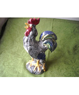 "Vintage Rooster Crowing Glazed Ceramic Figurine  12"" x 7"" x 4.25"" - $42.00"