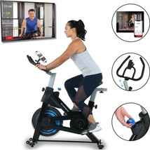 Exerpeutic Bluetooth Indoor Cycling Bike with App [4208] - $310.09