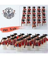 21pcs/set UK Redcoats Army Soldiers American Revolutionary War Minifigur... - $29.99
