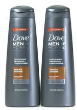 2 Dove 12 Oz Men Care 2 In 1 Formula Thick Strong Fortify Shampoo & Conditioner - $22.99
