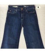 Gap Womens Jeans Authentic Flare Stone Blue Cotton Stretch Size 2Rx32 - $35.85