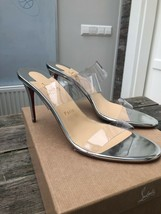 Christian Louboutin Silver Just Nothing 85mm Sandals New - $579.00