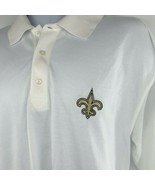 New Orleans Saints Mens Long Sleeve Shirt Cutter & Buck DryTec Size Large - $35.00