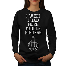 More Middle Fingers Funny Jumper F*ck you Women Sweatshirt - $18.99