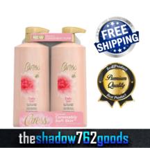 Caress Daily Silk Body Wash 25.4 fl oz 2 pk White Peach Orange Blossom S... - $23.56