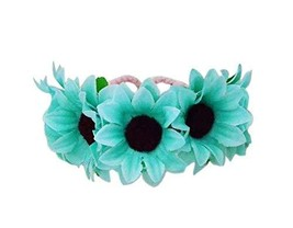 1 Pair Of Green Daisy Beach Bracelets Lace Bracelets Jewelry image 1