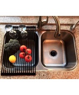 Roll Up Dish Drying Rack Kitchen Sink Drainer Counter Trivet Food Prep T... - $20.49