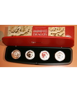 2012 Year Of The Dragon 4 Coin SILVER COIN SET! Series II Type Set - $234.50