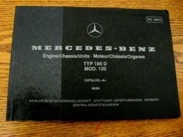Mercedes-Benz Type 180 D Parts Catalog Manual 1954 - 1959  W120 - $86.63