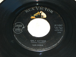 45 RPM Sam Cooke For Sentimental Reasons Seulement Seize Rca Victor Reco... - $7.90