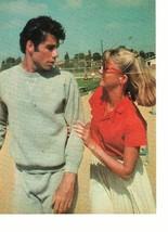 John Travolta Olivia Newton John teen magazine pinup clipping football game