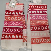 "Set Of 2 Same Printed Kitchen Towels (15"" X 25"") Love Hearts, Xoxo Design By Am - $10.88"