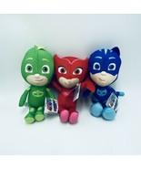 "PJ Masks Plush Set 8"" Catboy Gecko Owlett Blue Green Red Lot of 3 New - $29.99"