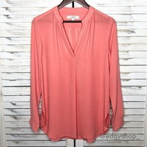 [LOFT] Split Neck Tab Sleeve Tunic Blouse - $20.00