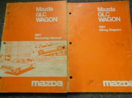 1981 Mazda Glc Wagon Service Reparatur Shop Manuell Set Fabrik OEM Rare ... - $14.01