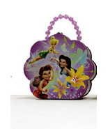 Disney's Tinker Bell Girls Flower Shape Purse Carry All Tin Tote Style A... - $14.46