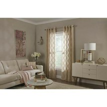 allen + roth Breesport 84-in Polyester Semi-sheer Single Curtain Panel B... - $19.99