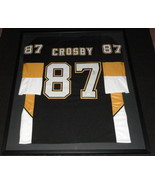 Sidney Crosby Signed Framed 34x40 Jersey Display JSA LOA Penguins - $1,107.99