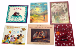 Lot of 6 Softcover Children's Books Munro Leaf PJ Lynch Pat Hutchins Hom... - $12.99