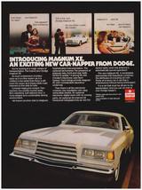 """Original 1977 Dodge Magnum XE """"Exciting New Car-Napper"""" Vintage Print Ad - $7.49"""