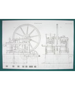 STEAM ENGINE Cotton Mill by Fairbairn Manchester - c. 1835 Fine Quality ... - $19.89