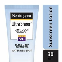Neutrogena Ultra Sheer Dry Touch Sunblock (SPF 50+ Sunscreen)  30ml*u.k - $12.93
