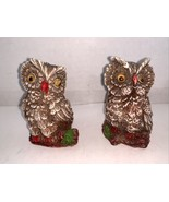 """Vintage Pair of Brown Owl Figurines w/ Wiggle Eyes Taiwan 3"""" - $8.00"""