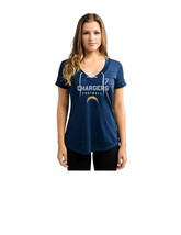 NFL Los Angeles Chargers Philip Rivers #17 Women'sV-Neck Synthetic Lace Up Top - $9.45