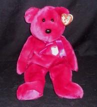 "13"" LARGE TY 2000 BEANIE BUDDIES VALENTINA PINK BEAR STUFFED ANIMAL PLUS... - $16.83"