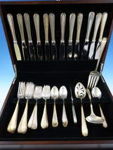 Golden Winslow by Kirk Sterling Silver 12 Flatware Service Set 53 Pcs - $4,250.00