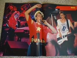 Duran Duran teen magazine poster clipping vintage 1980's Duran shirt Bra... - $4.00