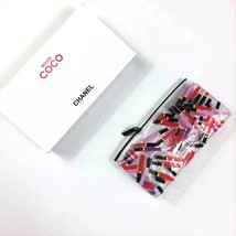 Rare Chanel Rouge COCO Transparent Makeup Cosmetic Storage Pouch Bag New in Box - $19.99