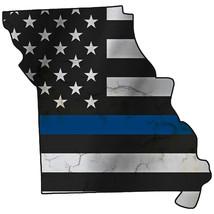 Thin Blue Line Police State of Missouri Laser CutOut Metal Sign 17Hx17W - $25.74