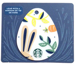 Starbucks New Empty Fillable Easter Egg Shaped Gift Card Bunny and Carrot - $1.99