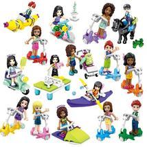 16pcs Friends For Girl Princess Heart Lake City Girls Scooter Minifigures Block - $32.99
