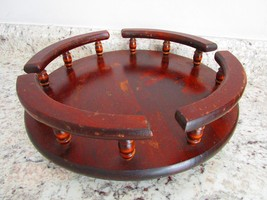 Vintage Wooden Tabletop Lazy Susan - Condiment ... - $29.99