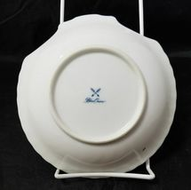"""Blue Onion Scallop Shell Bowls Set of 4 Clam Shell Plates 7""""×7"""" White, Swords image 4"""