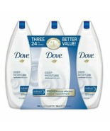Dove Deep Moisture Body Wash, 3 pk./24 oz NEW - $30.28