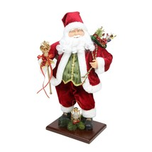 """Northlight 18"""" Santa Claus with Gift Bag and Staff Christmas Tabletop De... - $46.27"""