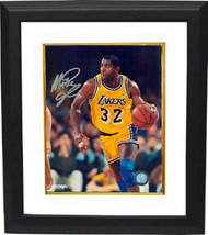 Magic Johnson signed Los Angeles Lakers 16x20 Photo Custom Framed (yello... - $195.00