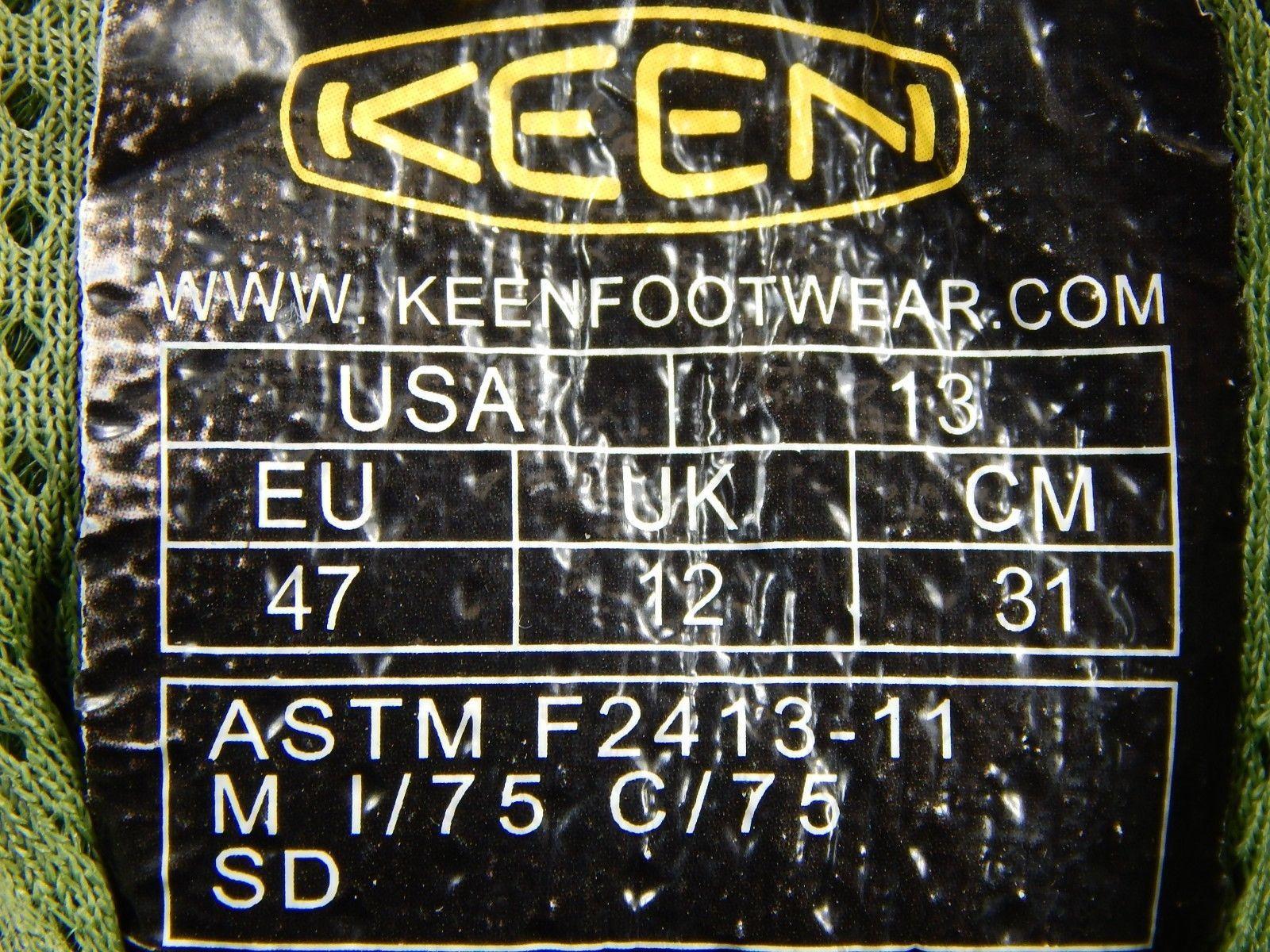 Keen Durham ESD Size 13 M EU 47 Aluminum Toe Slip Resist Men's Work Shoes